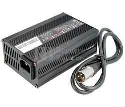 Cargador de baterías de Ion-Litio 24 Voltios 3 Amperios