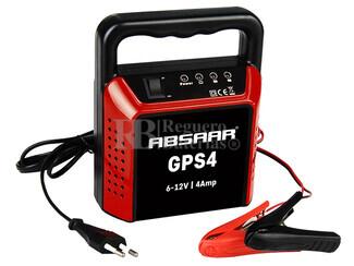 Cargador Estándar de Baterías ABSAAR para 6V y 12 Voltios 4 Amperios para Plomo Ácido
