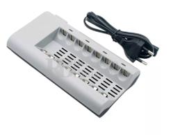Cargador multiple para 8 baterías AA, AAA de Ni-Cd, Ni-MH