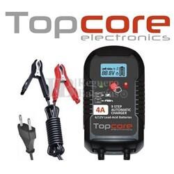 Cargador para baterías AGM, Gel 12V 2-4A y 6V 2A