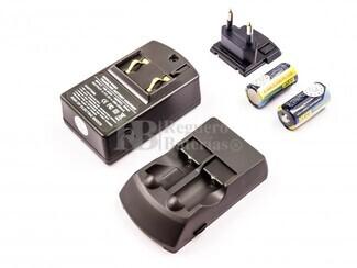 Cargador para baterias de litio CR123, incluye 2 baterías CR123