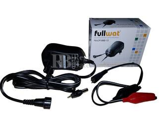 Cargador para Baterías de Plomo 12 Voltios 1 amperio Fullwat FU-CP1000-12