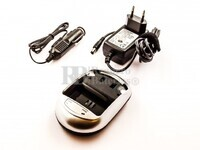 Cargador para baterías Olympus LI-50B, Sony NP-BK1