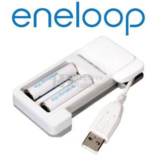 Cargador USB baterías AA, AAA Sanyo Eneloop