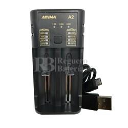 Cargador Universal USB Li-ion, Ni-MH, Ni-CD
