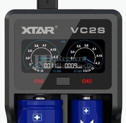 Cargador Xtar VC2S Litio Ni-Mh Ni-Cd