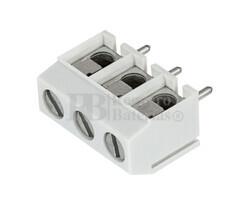 Clema componible para circuito impreso 3 contactos