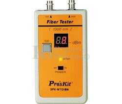 Comprobador de cables ST de fibra óptica Proskit 3PK-NT018N-ST