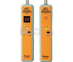 Comprobador de cables ST de fibra óptica Proskit 3PK-NT018S-ST