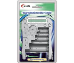 Comprobador pilas baterías AA, AAA, 9V, CR123A, CR2, CR-V3, 2CR5, CR-P2