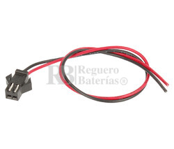 Conector aéreo hembra 2 Pines paso 2.5mm