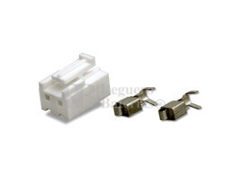 Conector aéreo hembra 2 Pines paso 4mm