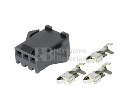 Conector aéreo JST hembra 3 Pines paso 2.5mm