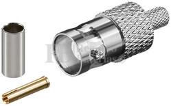 Conector BNC hembra para crimpar RG59