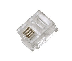 Conector modular telefónico RJ11 100 unidades