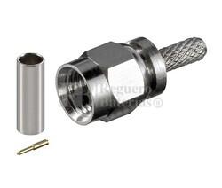 Conector SMA macho para cable RG58