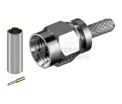 Conector SMA macho para crimpar cable RG58/U