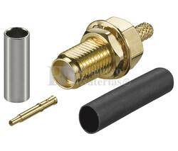 Conector SMA Reverse hembra para cable RG174, RG316