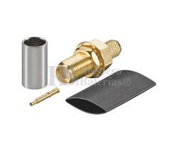 Conector SMA Reverse hembra para cable RG58