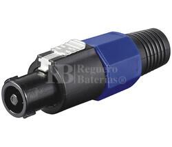 Conector speakon macho aéreo 4 Pin con protector cable