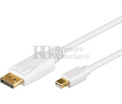 Conexión DisplayPort macho a Mini DisplayPort 1m