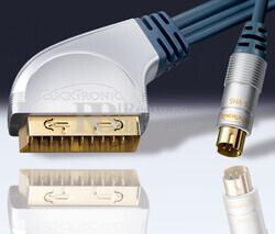 Conexión Euro-1-S-VHS Macho AMP-DVD-Hifi/TFT-LCD-Plasma 5 metros