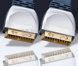 Conexión Euro-Euro VCR-DVD-Hifi/TFT-LCD-Plasma cable plano 0.75 metros