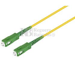 Conexión fibra óptica datos SC-SC, monomodo simplex 5.0m