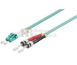 Conexión fibra óptica para datos LC/ST, multimodo dúplex, 1m