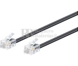 Conexión modular RJ11 6V/4C macho - macho