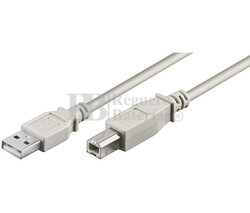 Conexión USB-A 2.0 macho-macho USB-B 2.0, 3 metros