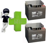 Conjunto de 2 Bater�as AGM 12 Voltios 42 Amperios para Aplicaciones Ciclicas FIAMM FG24204