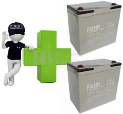 Conjunto de 2 Bater�as AGM 12 Voltios 55 Amperios para Aplicaciones Ciclicas FIAMM 12FGL55