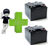 Conjunto de 2 Bater�as AGM Plomo Puro 12 Voltios 26 Amperios para Aplicaciones Ciclicas ENERSYS EP26