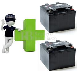 Conjunto de 2 Baterías AGM Plomo Puro 12 Voltios 26 Amperios para Aplicaciones Ciclicas ENERSYS EP26