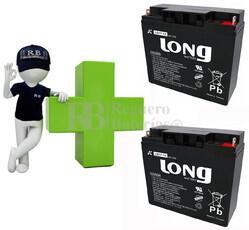 Conjunto de 2 Baterías GEL 12 Voltios 17 Amperios para Aplicaciones Ciclicas LONG LG17-12