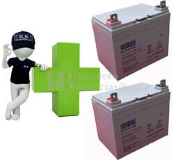 kits de 2 Baterías De GEL 12 Voltios 33 Amperios para Sillas de Ruedas ST1233G