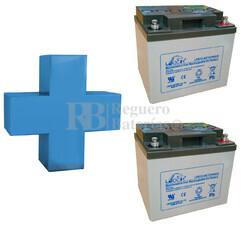 Conjunto de 2 Bater�as De GEL 12 Voltios 40 Amperios para Aplicaciones Ciclicas Leoch LPG12-40