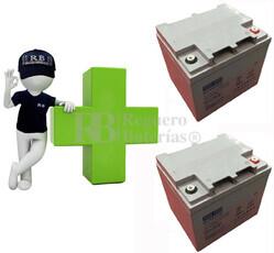Conjunto de 2 Bater�as De GEL 12 Voltios 40 Amperios para Aplicaciones Ciclicas ST1240G