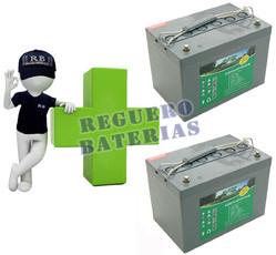 Conjunto de 2 Bater�as GEL 12 Voltios 60 Amperios para Aplicaciones Ciclicas HAZE HZY-EV12-60