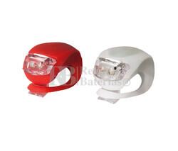 Conjunto de 2 luces LED para bicicleta roja y blanca