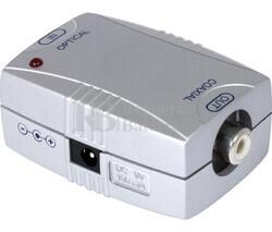 Convertidor de señal óptica digital a coaxial digital