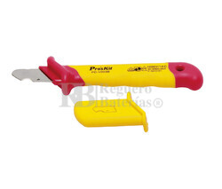 Cuchillo de electricista hoja recta de gancho 1000V Proskit PD-V003B