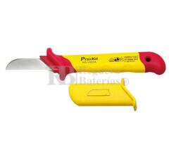 Cuchillo electricista hoja recta 1000V Proskit PD-V003A