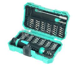 Destornillador con 24 puntas estándar y 30 de precisión