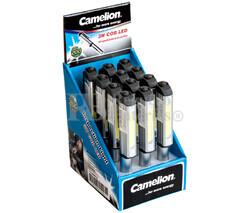Expositor de 12 linternas tipo lápiz y clip magnetico