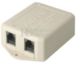Filtro de linea ADSL 1 entrada 2 salidas hembras, beige