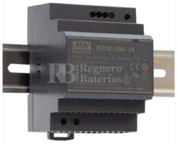 Fuente alimentación 12 Voltios 7,5 Amperios HDR-100-12N