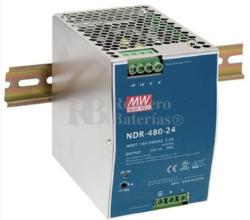 Fuente alimentación 24 Voltios 20 Amperios NDR-480-24