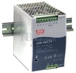 Fuente alimentación 48 Voltios 10 Amperios SDR-480-48